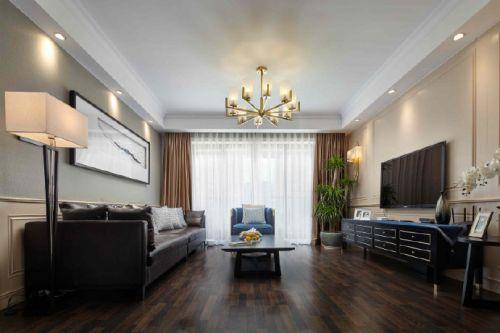美式与中式混搭,高级灰与经典蓝筑造精致优雅家居