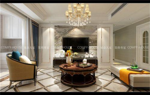 融汇城玫瑰公馆装修丨139平简欧风格改善性住房
