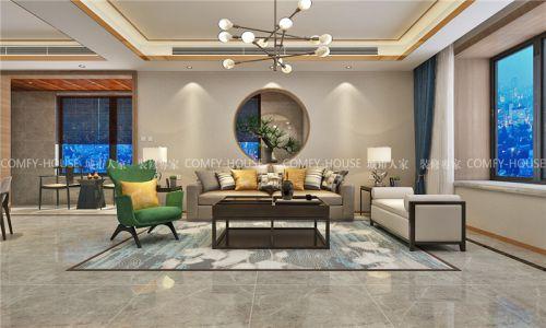 城市人家「财富中心案例」240㎡四室两厅新中式风格装修