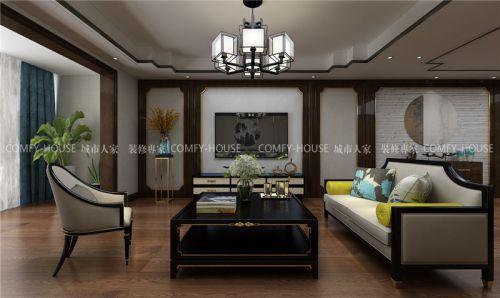 城市人家-龙湖春江悦茗170平新中式装修设计方案