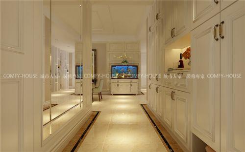 历山名郡220平简欧风格装修方案,客厅通透开阔