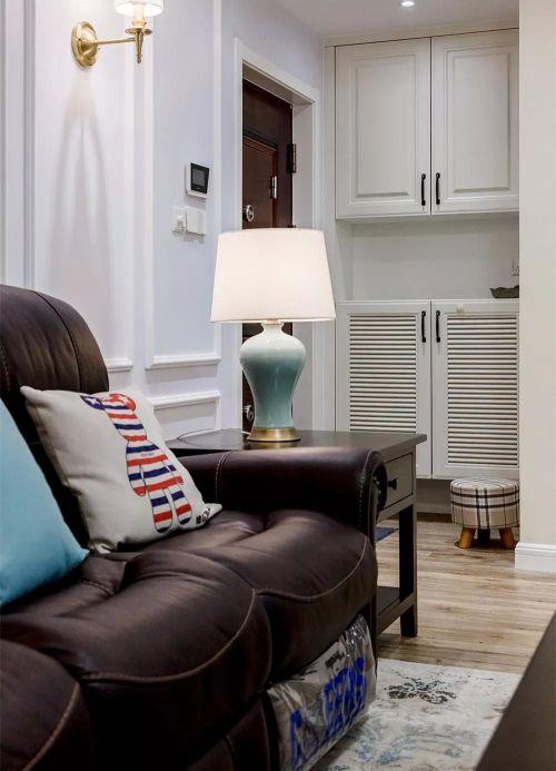 119㎡现代美式风,电视背景墙做个矮墙更显宽敞!