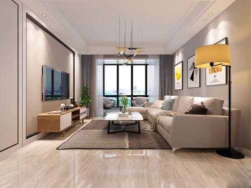 西安华远海蓝城115户型设计效果现代简约风格
