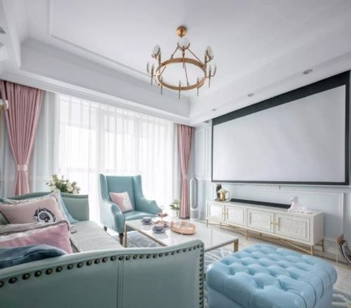 咸阳工商局家属院三居室法式风格装修设计